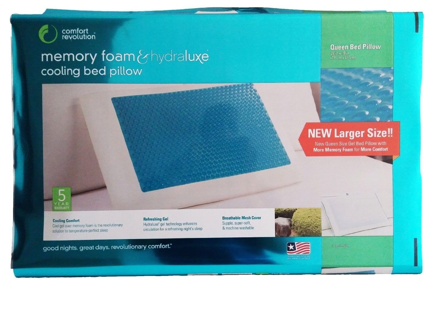 Comfort Revolution Cooling Hydraluxe Pillow