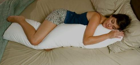 body pillow sleeping posture