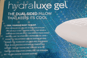 hydraluxe gel cooling pillow
