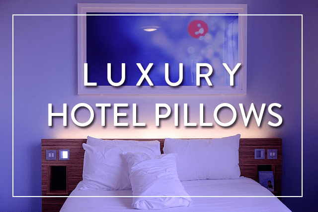 Pillows used at five star luxury hotels
