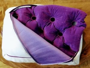 purple pillow booster