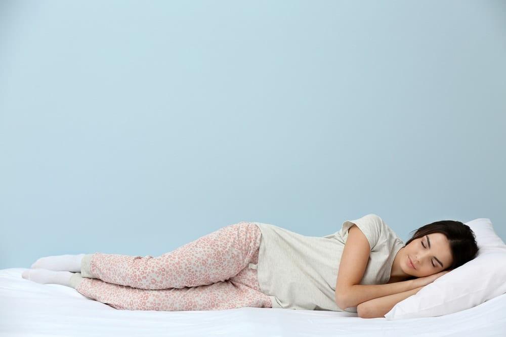 side sleeper woman