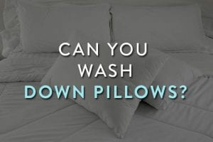 Wash Down Pillows