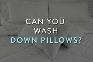 Wash Down Pillows