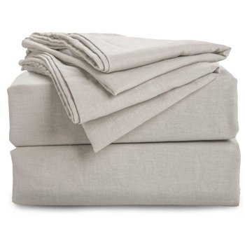 Bedsure 55% Linen & 45% Cotton Sheet Set