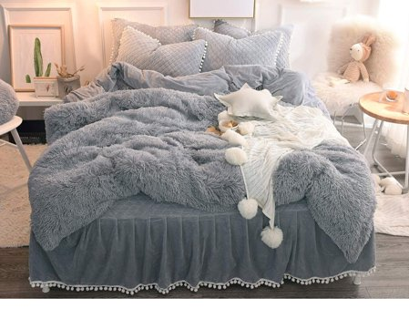 stay warm with furry duvet