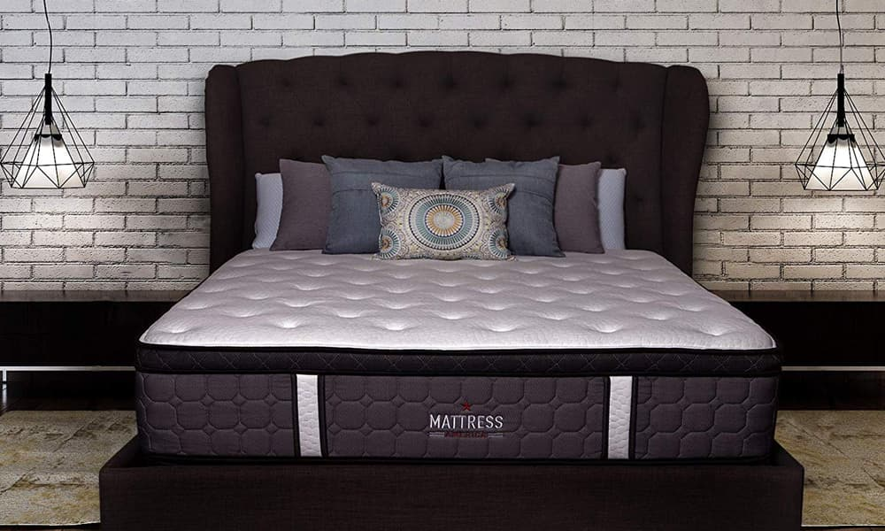 Mattress America Frost 13 Inch Hybrid Pocket Coil Pillow Top Mattress Gel Infused Memory Foam