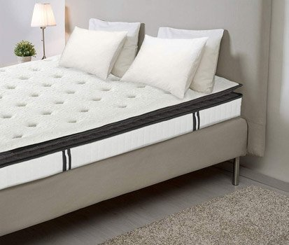 Suiforlun 12 Inch Pillow Top Twin Hybrid Mattress