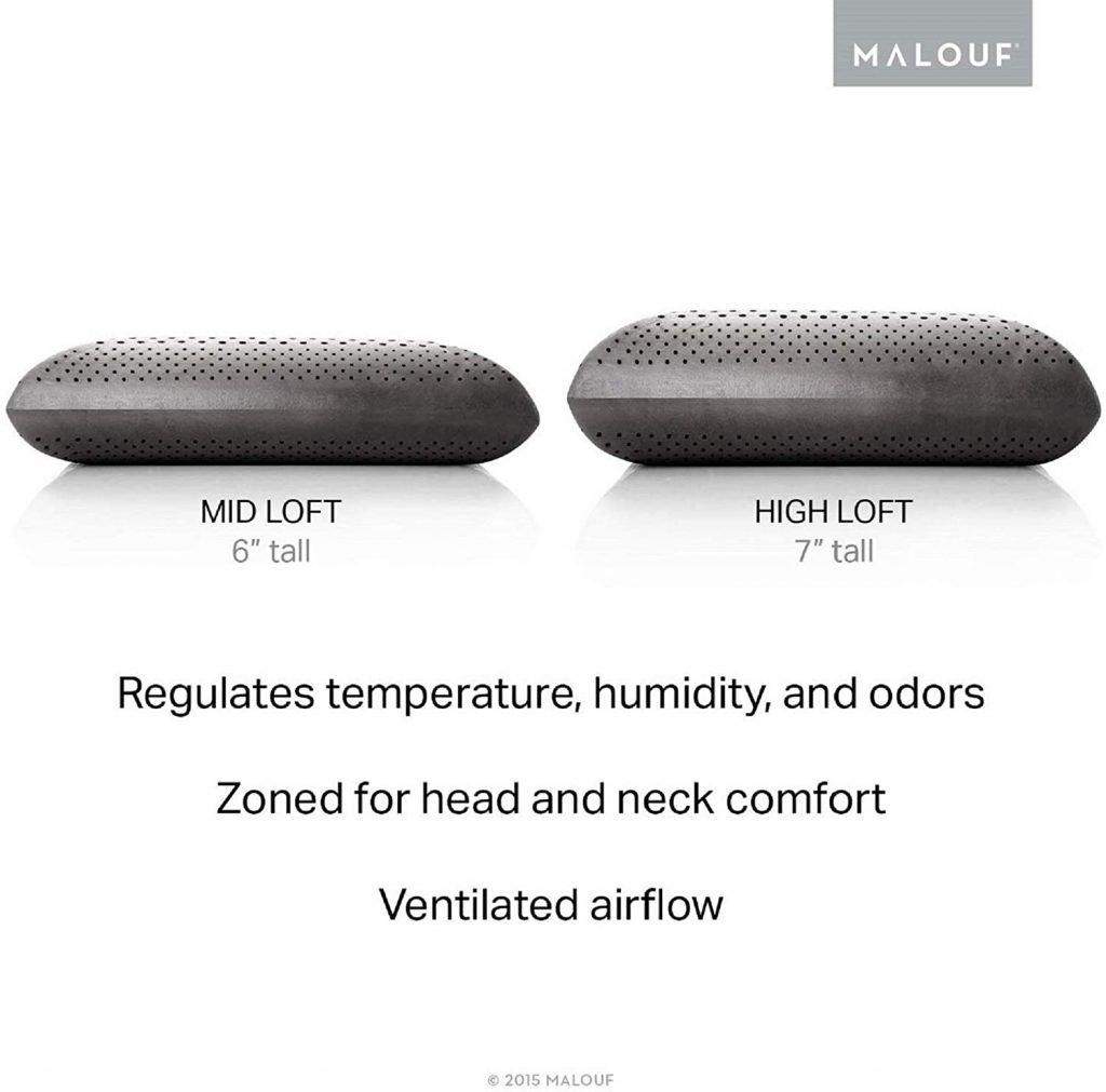 Charcoal Pillow - med & high loft