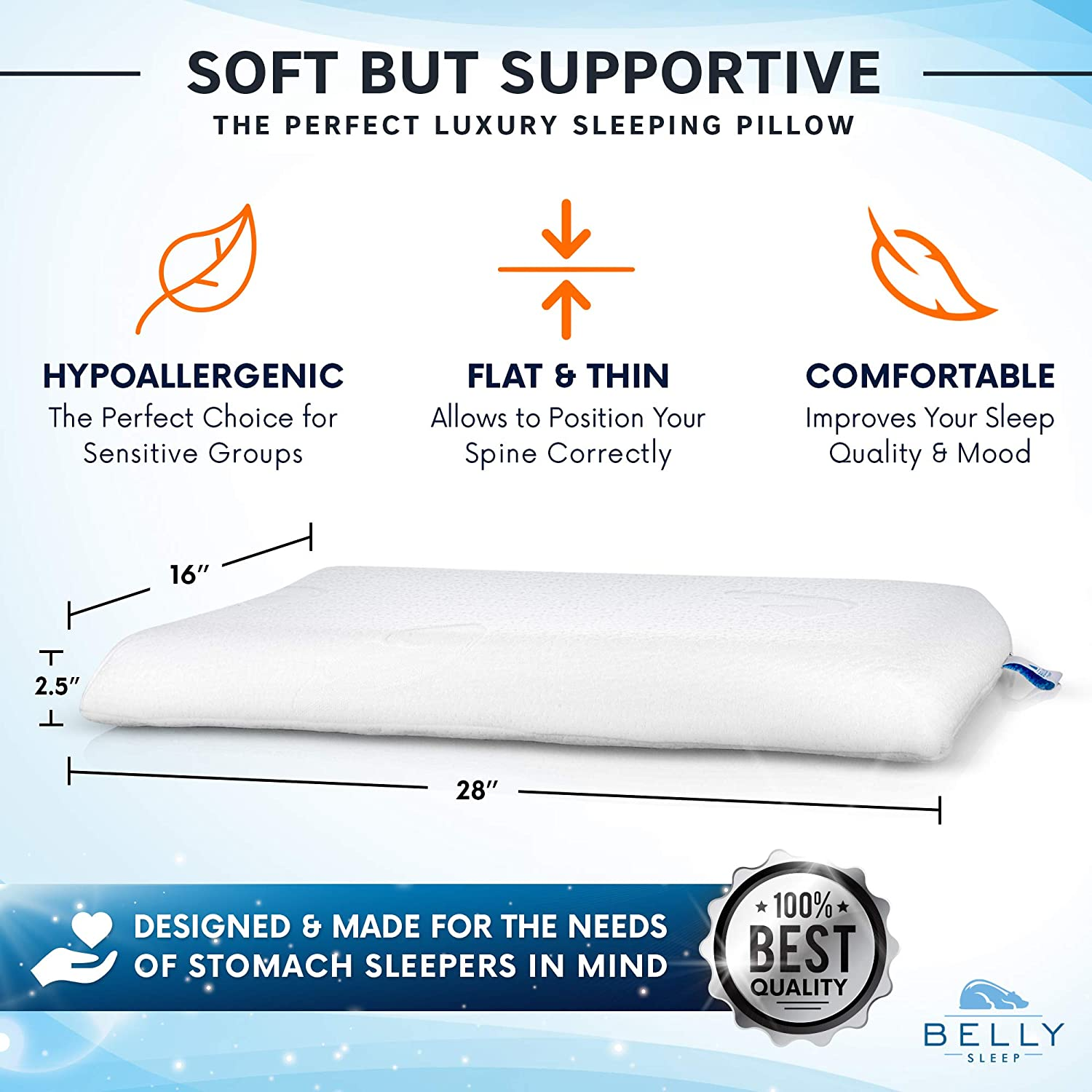 best pillow in the world - belly sleeper